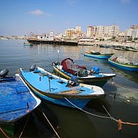 View of fishing boats at the port of Gaza City, June 13, 2019. (Hassan Jedi/Flash90)