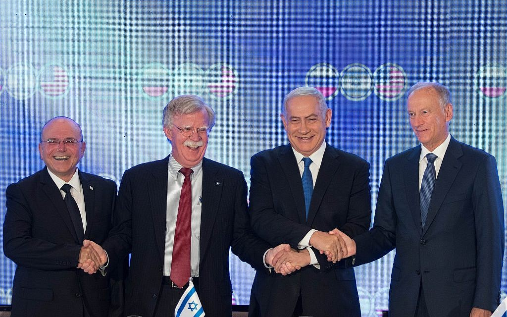 In trilateral Jerusalem summit, Russia sides with Iran, against Israel and US