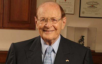 George Rosenkranz, shown in 2004. (Douglas A. Lockard/Wikimedia Commons via JTA)