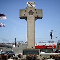 A 40-foot-high 'peace cross' in Maryland honoring World War I soldiers. (Chip Somodevilla/Getty Images)