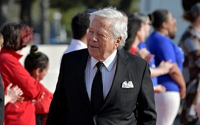 Robert Kraft at The John F. Kennedy Presidential Library and Museum in Boston, May 19, 2019. (Paul Marotta/Getty Images/via JTA)