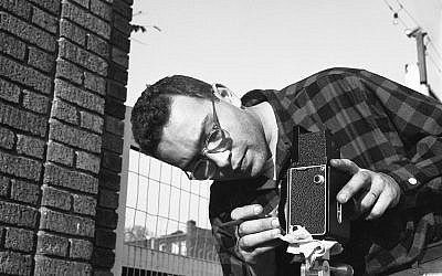 A Rolleiflex self-portrait of a young Harold Feinstein. (Courtesy)