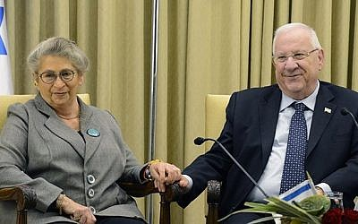 President Reuven Rivlin and his wife, Nechama Rivlin. (GPO)