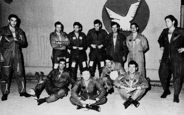 The IDF pilots who participated in the Operation Opera bombing of Saddam Hussein's nuclear reactor at Osirak in 1981. (Israel Defense Force archive)