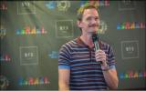 Actor Neil Patrick Harris, the 2019 International Pride Ambassador, in Tel Aviv on June 13, 2019. (courtesy Tel Aviv municipality)