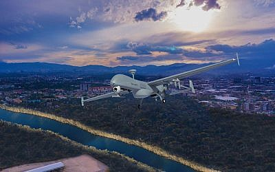 The T-Heron is a new Unmanned Aerial System developed by Israel's Aerospace Industries Ltd. (IAI) (Courtesy)