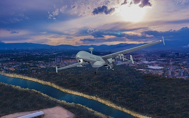 The T-Heron is an unmanned aerial system developed by Israel's Aerospace Industries. (Courtesy)