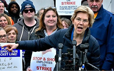 Democratic presidential candidate Sen. Elizabeth Warren, a Massachusetts Democrat, speaks at an event in Somerville, Massachusetts, April 12, 2019. (AP Photo/Josh Reynolds, File)