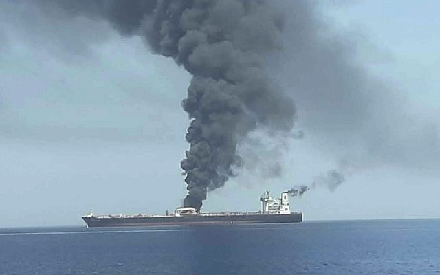 Crew members of targeted oil tanker arrive in Dubai after 2