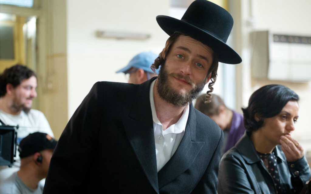 Michael Aloni portraying Akiva on 'Shtisel,' an Israeli show on Netflix that has broken stereotypes about ultra-Orthodox life. (Courtesy Shtisel Facebook page)