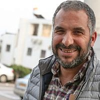 Ron Cobi, mayor of Tiberias, seen outside the city's municipality building, April 1, 2019. (David Cohen/Flash90)