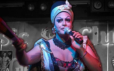 Mama De La Smallah performs at a 2019 Tel Aviv Pride event at the Desire Club in South Tel Aviv. (Laura E. Adkins)