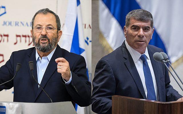 Ehud Barak, left, and Gabi AshkenazI, right. (Flash90)