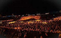 A sold-out crowd at Rishon Lezion's Live Park, at a Daddy Yankee concert on June 26, 2019. (Courtesy Live Nation)