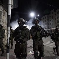Illustrative. Israeli soldiers take part in operations in the West Bank. (Israel Defense Forces)