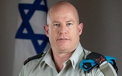 Brig. Gen. Hidai Zilberman, who was nominated to take over as the next IDF spokesperson on June 13, 2019. (Israel Defense Forces)