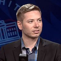 Screen capture from video of Yair Netanyahu during an interview with Blaze TV broadcast on June 11, 2019. (YouTube)