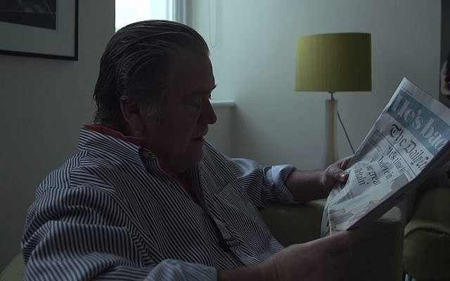 Steve Bannon talks about his relationship and contacts with UK Conservative Party Boris Johnson in video released June 23, 2019 (Screen grab via the Observer)