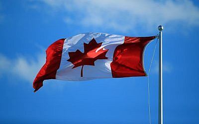 The Canadian flag (Vaughn Ridley/Getty Images via JTA)