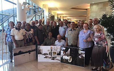 Chernobyl liquidators visiting the Knesset in Jerusalem. (Ksenia Svetlova)