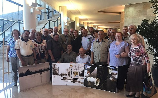 Chernobyl liquidators visiting the Knesset in Jerusalem. (Ksenia Svetlova)
