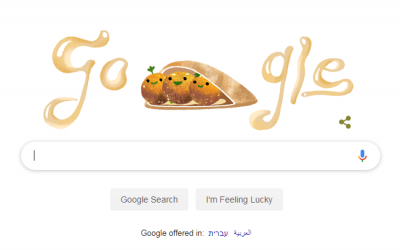 Google's falafel Doodle, June 18, 2019 (screenshot)