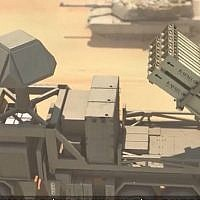 The I-Dome, a portable version of the Iron Dome missile defense system, made by Israeli aerospace company Rafael. (screen capture: Channel 13/Rafael)