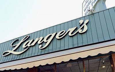 Langer's Deli in Los Angeles, seen in 2013. (Kevork Djansezian/Getty Images via JTA)