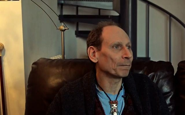 Richard Zimler being interviewed at his home in 2015. (screen capture  YouTube/FnacPortugal)