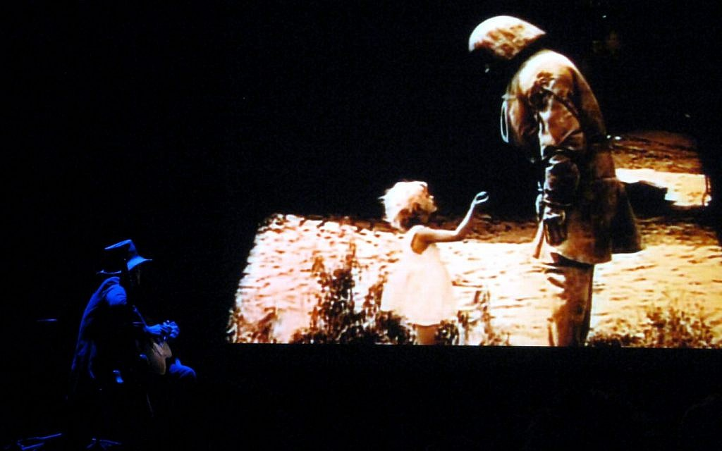 Gary plays 'The Golem' in the Valladolid Film Festival, Valladolid, Spain, October 27, 2008. (Hector Marquez)
