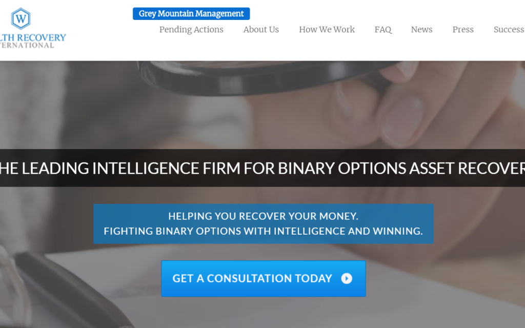 Fraud-tainted binary options victims 'recovery' firm Wealth Recovery