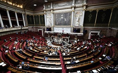 This picture taken on July 3, 2019 shows a general view of a session at the French National Assembly in Paris, France's parliament. (Stephane De Sakutin/AFP)