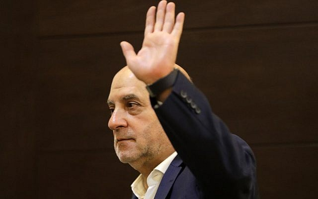 Amin Sherri, Lebanese MP for the Shiite Hezbollah terror group, gestures during a meeting of the party's parliamentary bloc in the capital Beirut's southern suburb of Haret Hreik on July 11, 2019. (Joseph Eid/AFP)