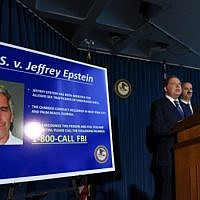 US Attorney for the Southern District of New York Geoffrey Berman announces charges against Jeffery Epstein on July 8, 2019 in New York City. Epstein will be charged with one count of sex trafficking of minors and one count of conspiracy to engage in sex trafficking of minors.   (Stephanie Keith/Getty Images/AFP)