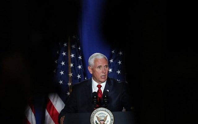 US Vice President Mike Pence speaks during the Donald J. Trump for President Latino Coalition Rollout on June 25, 2019 in Miami, Florida. ( Joe Raedle/Getty Images/AFP)