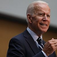 Democratic presidential candidate and former Vice President Joe Biden gives a speech on his foreign policy plan on July 11, 2019 in New York City. (Spencer Platt/Getty Images/AFP)