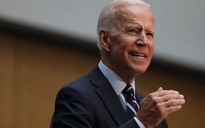 Democratic presidential candidate, former Vice President Joe Biden gives a speech on his foreign policy plan on July 11, 2019 in New York City. (Spencer Platt/Getty Images/AFP)