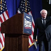 Democratic presidential hopeful and U.S. Sen. Bernie Sanders (I-VT) arrives at a campaign event at George Washington University July 17, 2019 in Washington, DC. (Alex Wong/Getty Images/AFP)