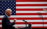 Joe Biden, the leading Democratic 2020 presidential candidate, holds a speech about his foreign policy vision for America at the Graduate Center at the City University of New York in New York City, July 11, 2019. (Johannes Eisele/AFP/Getty Images)
