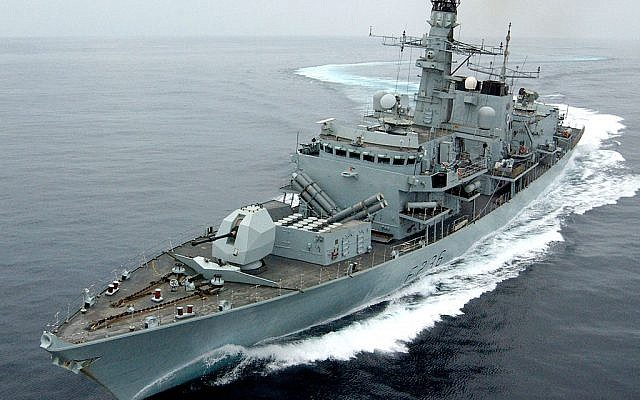 The HMS Montrose seen during an exercise off the coast of Oman in 2005 (Mick Storey/MOD)