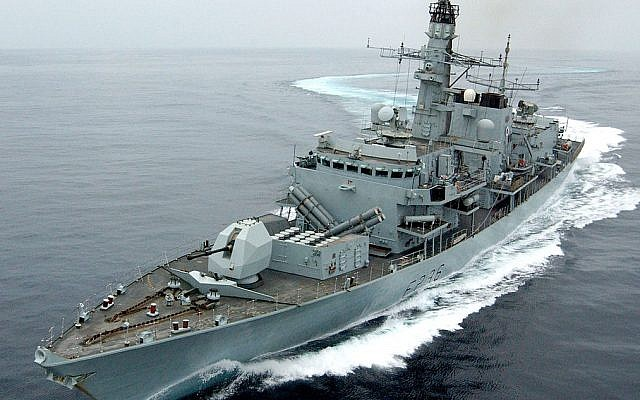 British warship said to have thwarted Iranian effort to