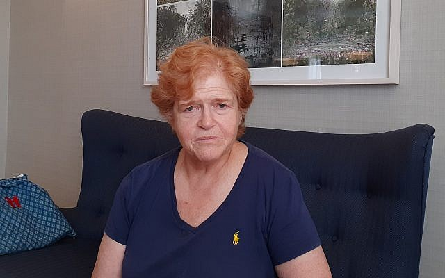 Atlanta-based historian Deborah Lipstadt in Jerusalem, July 2019 (Raphael Ahren/Times of Israel)