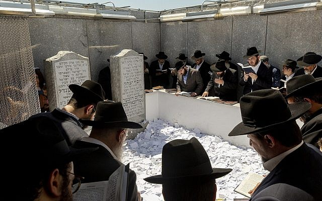 Thousands of Jews and visitors from around the world have visited the gravesite of the Rebbe, Menachem Mendel Schneerson, to commemorate the 25th anniversary of his passing, July 5, 2019. (Mark Abramson/Chabad.org via JTA)