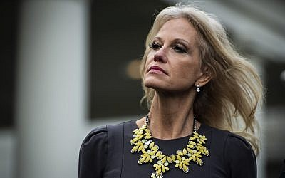 Kellyanne Conway outside the West Wing of the White House, January 9, 2019. (Jabin Botsford/The Washington Post via Getty Images/via JTA)
