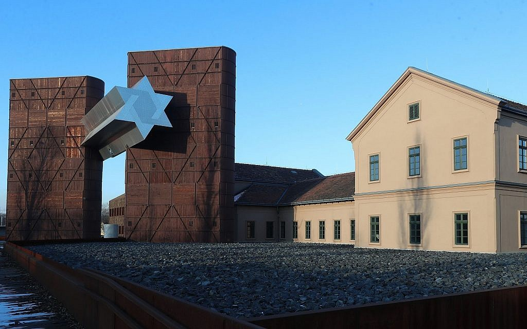The House of Fates Holocaust museum, housed in a former railway station that deported Jews to concentration camps, seen in Budapest, January 21, 2019. It has not opened to the public despite having been finished five years ago. (Ferenc Isza/AFP/Getty Images/via JTA)