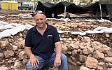 Dr. Jacob Vardi, Antiquities Authority, director of the excavations at the ancient site at Motza near Jerusalem. (Yaniv Berman, Israel Antiquities Authority)