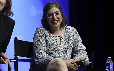 Mayim Bialik speaks at the AT&T's SHAPE: 'The Scully Effect is Real' panel on June 22, 2019 in Burbank, California (Mark Von Holden/Invision/AP)