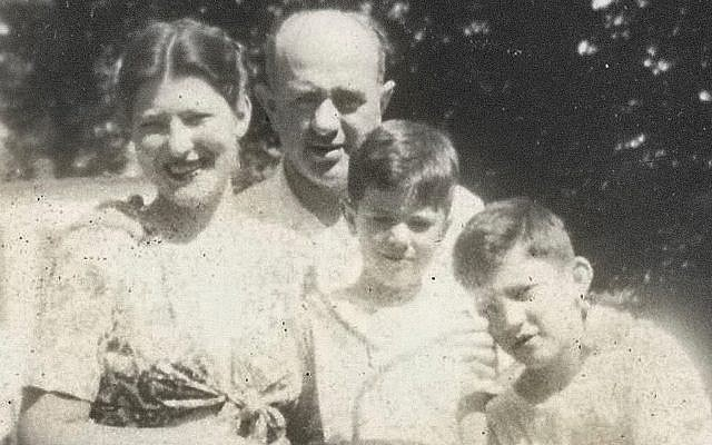 This undated photo provided by the Bernie Sanders campaign in July 2019 shows him as a child, center, with his mother, Dorothy; father, Eli; and brother, Larry. (Bernie Sanders campaign via AP)