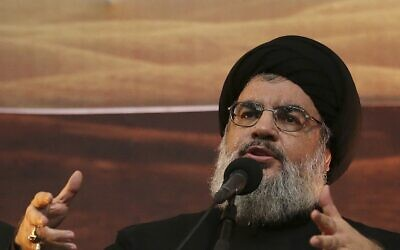 Hezbollah leader Sheikh Hassan Nasrallah.(AP Photo/Hussein Malla, File)