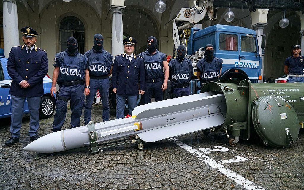 Italy seizes air-to-air missile, weapons cache from neo-Nazis